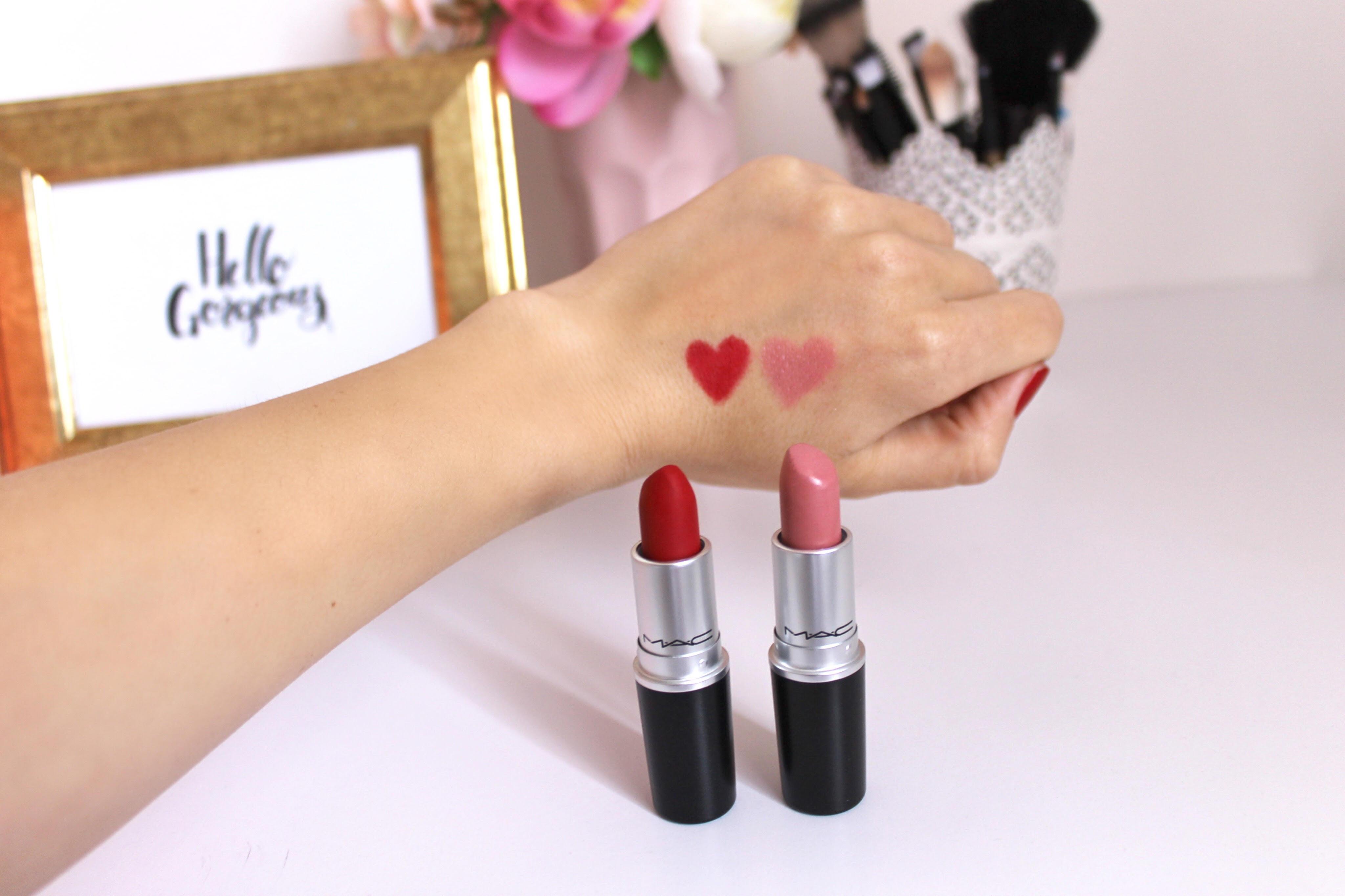 MAC Glaze Lipstick rúž pre plné pery, MAC Matte Lipstick rúž s matným efektom